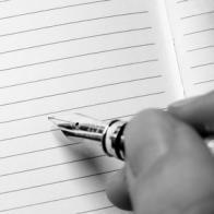 Notizen auf Linienpapier